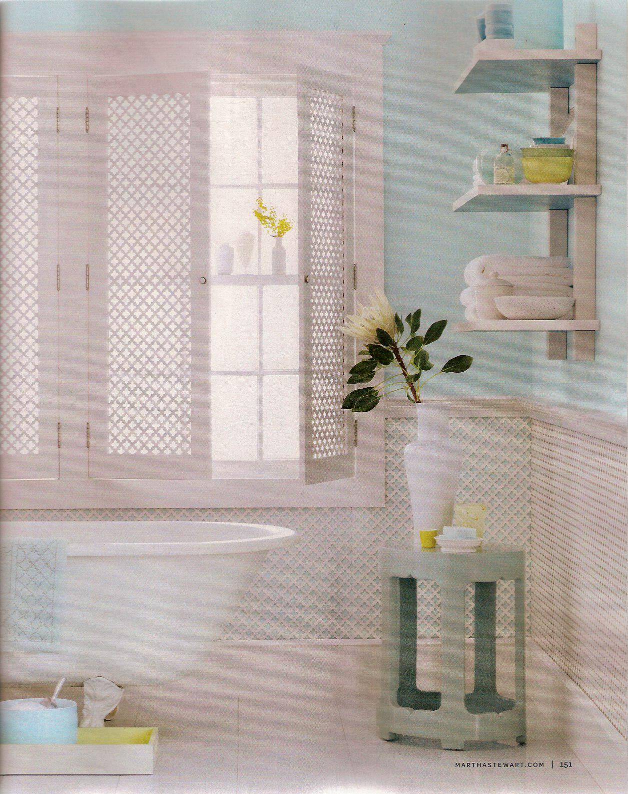 Martha stewart simply healthy for Martha stewart bathroom designs